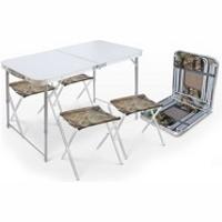 Ника ССТ-К2, Набор складной стол влагостойкий и 4 стула (NIKA) фото